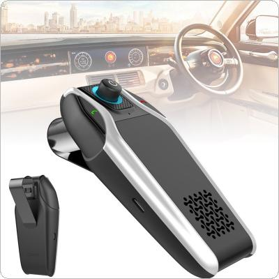 BT15 Dual-USB Sun Visor Universal Car Bluetooth Handsfree Car Kit Car Audio MP3 Player with Speaker Support Charger AUX