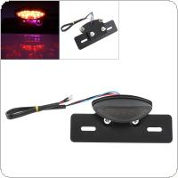 12V Smoked Lampshade Red Flash Multifunction LED Brake Taillight for Off Road Vehicles / ATV / Motorcycle Universal