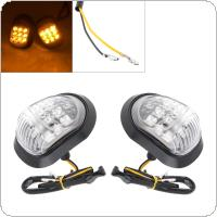 Motorcycle Accessories 2pcs 12V Super Bright LED Steering Indicator Signal Honeycomb Lamp for Motorcycle Universal