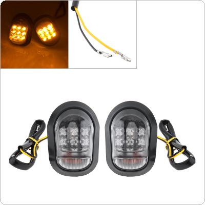 Motorcycle Accessories 2pcs 12V Cat Eye with Snakeskin Pattern LED Turn Signal Indicator for Motorcycle Universal