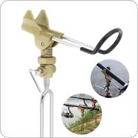 Adjustable Stainless Steel Fishing Rod Stand Gold Metal Handle Support Holder for Telescopic / Hand Rod