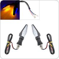 2pcs 12V Double Sided LED Yellow and Blue Flashing Signal Indicating Turn Signal for Motorcycle Universal