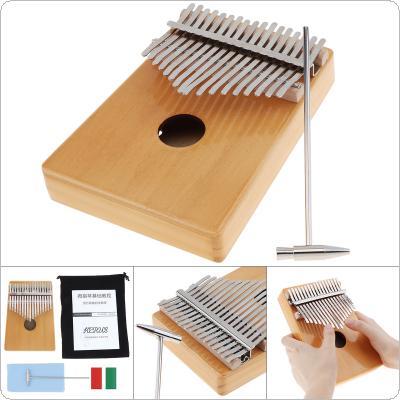 17 Keys Thumb Piano Kalimba Single Board Pine Mbira Mini Keyboard Instrument