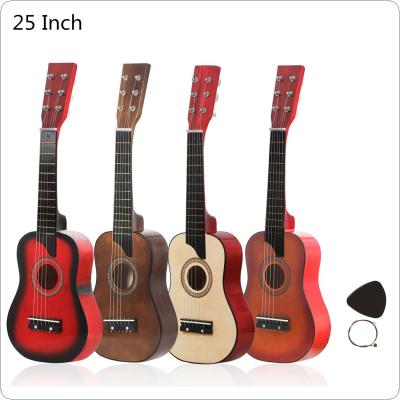 25 Inch Basswood Acoustic Guitar with Pick Strings Toy Guitar for Children and Beginner