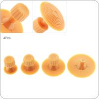 4pcs Universal Yellow Plastic Car Body Dent Repair Shim Sucker Pull Cap Tabs Tools Accessory Kit