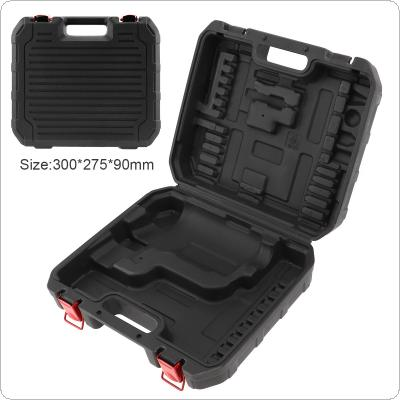 Black PVC Power Tool Suitcase Electric Drill Dedicated Load Tool Box with 300mm Length and 275mm Width for Hand Electric Drill / Electric Screwdriver
