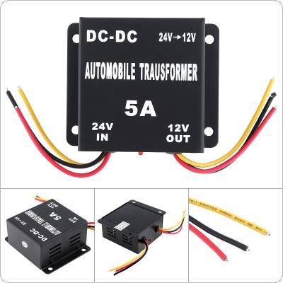 5A 60W DC 24V to 12V Power Converter Electric Inverter Voltage Reducer Step-down Transformer