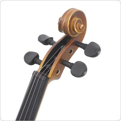 4pcs/lot 3/4 & 4/4 Ebony Violin Tuning Pegs Inlay Shell with Open Hole