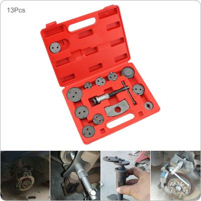 13pcs/set Universal Car Disc Brake Caliper Wind Back Brake Piston Compressor Pad Regulator Tool Kit with Replaceable Brake Piston