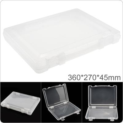 Transparent White PP Plastic Portable Handheld Multifunctional Sample Tool Box Storage Box with 360mm Length and 270mm Width for Hardware Accessories