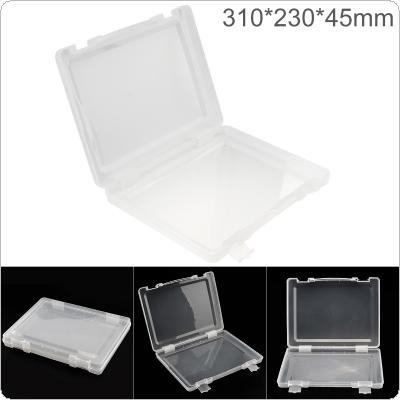 Transparent White PP Plastic Portable Handheld Multifunctional Sample Tool Box Storage Box with 310mm Length and 230mm Width for Hardware Accessories