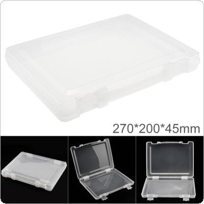 Transparent White PP Plastic Portable Handheld Multifunctional Sample Tool Box Storage Box with 270mm Length and 200mm Width for Hardware Accessories