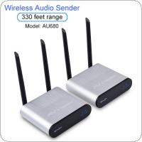 AU680 Wireless Audio Transmitter and Receiver Long Distance Remote Control 100Metres for Home Entertainment