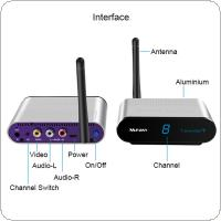 2.4GHz Wireless AV VCD Audio Video Transmitter and Receiver with IR Remote Control 200 Metres RCA-220 for Transmission