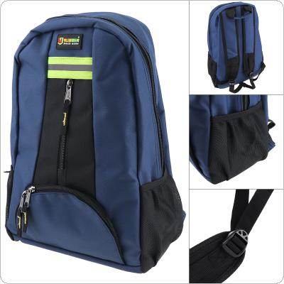 Multifunctional Durable 1680D Oxford Cloth Waterproof Blue Double-shoulder Backpack Tool Bag with 12 Pockets and Safety Reflective Strip for Maintenance Tools