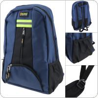 Multifunctional Durable 1680D Oxford Cloth Waterproof Blue Double Shoulder Backpack Tool Bag with 12 Pockets and Safety Reflective Strip for Maintenance Tools