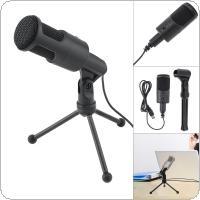 Portable Multifunctional Computer Capacitive Microphone for Live Broadcast / Meeting / Speech with Detachable Bracket and PVC Connection Wire