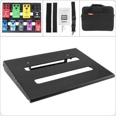 KOKKO 35 x 28cm Detachable Guitar Pedal Board Setup Style DIY Guitar Effect Pedalboard Support Placed 8-10 Effects with Bag