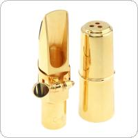 Soprano bB Saxophone Mouthpiece Goldplated Copper Brass Sax Mouth Size 6C 7C for Classical Jazz Music
