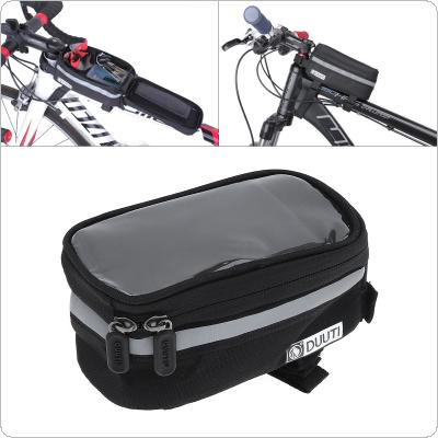 DUUTI Bicycle Handlebar Bag 3.5-5.7inch Touchscreen Phone Mount Holder MTB Road Bike Front Frame Bag with Waterproof