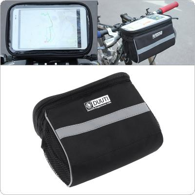 DUUTI Black Bicycle Head Package with Reflective Strip Design Night Riding Safety and Transparent Touch Screen