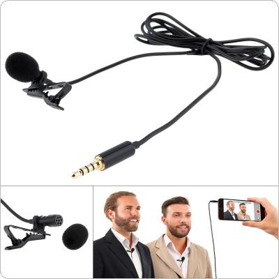 4 Pole 3.5MM Mini Headsets Microphone Mobile Phone DSLR Camera Clip-on Lapel Condenser Microphone for Recording / Speaking / Lectures
