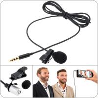 3.5MM Mini Headsets Microphone Mobile Phone DSLR Camera Clip-on Lapel Condenser Microphone for Recording / Speaking / Lectures