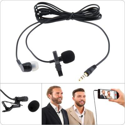 4 Pole 3.5MM Mini Headsets Microphone Suit Mobile Phone DSLR Clip-on Lapel Condenser Microphone for Recording / Speaking / Lectures