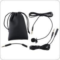 3.5MM Mini Headsets Microphone Suit Clip-on Lapel Computer Phone Mic Condenser Microphone for Recording / Speaking / Lectures