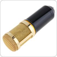 Professional BM-800 Capacitor Studio Microphone Double layer Elastic Mesh Gold Plated and 3.5mm Wired for Stage / Conference / KTV / Vocal Recording / Karaoke