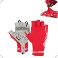 GUB Red Anti-slip Breathable Lycra Half Finger Gloves with Shockproof Gel Padding for MTB Bicycle Cycling