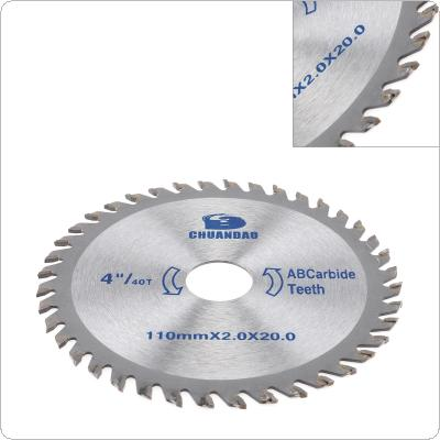 "4"" / 110mm Circular Saw Blade Carbide Blade Aluminum Iron Cutting Blade Electric Saw Power Tool"