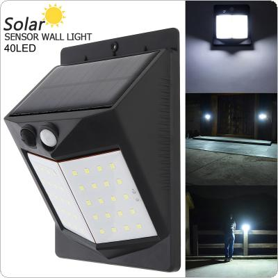 40 LED 400LM Light-controlled Human Body Sensing Wall Light LED Solar Motion Sensor Light Induction Lamp for Outdoor / Courtyard / Illuminating