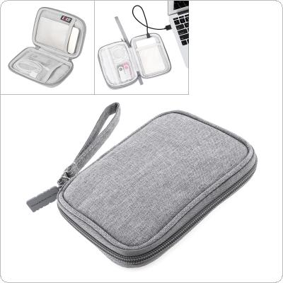 2.5 Inch Shockproof Gray Digital Cable Storage Bag Earphone Wire Bag Hard Disk Hard Drive Disk Cover Protector for Storage