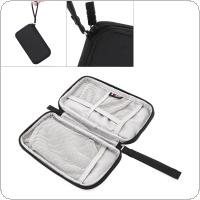 Portable Shockproof Black Powerbank Storage Bag Digital Cable Storage Bag External Hard Drive Disk Protector Cover for CDB ROMOSS 2/30000MA