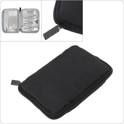 PortableTravel Digital Multi-function Data Anti-fall Single Layer Storage Bag Electronics Travel Organizer/ Cable bag