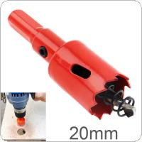 20mm M42 Bi-Metal Hole Saw Drilling Hole Cut Tool with Sawtooth and Spring for PVC Plate / Woodworking