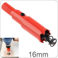 16mm M42 Bi-Metal Hole Saw Drilling Hole Cut Tool with Sawtooth and Spring for PVC Plate / Woodworking