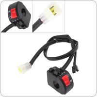 300CC 22MM Motorcycle Handlebar Control Right Switch Three-function LED Switch Start Switch Headlight Switch Fit for ATV /  Suzuki / Yamaha