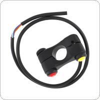 7/8'' 22MM Motorcycle Handlebar Control Switch 3 Button 7 Wires Alloy Handlebar Switches for ATV
