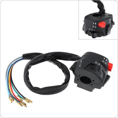 7/8'' 22MM Motorcycle Handlebar Control Switch Five-function Push Button Switch Start Switch Fit for ATV / Suzuki / Yamaha
