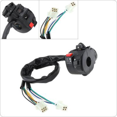 Motorcycle Handlebar Control Switch Five function Turn Signal Headlight Fog Lamp Push Button Switch ATV Start Switch for ATV200 / ATV250