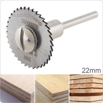 22mm HSS Tool Cutting Mandrel Disc Blade and Circular Blade Mini Saw Blade