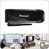 Wecast E3 128M Wireless Display Dongle Anycast DLNA AirPlay Mirror HDMI TV Stick Wifi Miracast Dual Core 5G Dongle Receiver for IOS / Android