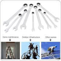 9pcs 8-19mm Professional Wrench Tool Combination Spanner Set Gear Ring Wrench for Installation / Maintenance