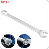 10MM Dual Heads Ratchet Wrench Dual Use Wrench Combination Spanner Open End and Plum End Spanner for Repairing