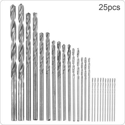 25 pcs/set High Speed Metric HSS Twist Drill Bits Coated Set 0.5MM - 3.0MM Stainless Steel Small Cutting Resistance for Hole Punch