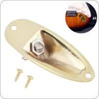 Electric Guitar Pickup Brass Boat Style Output Jack Plate Socket Accessories for FD Strat Electric Guitar