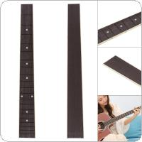 46cm 20 Fret Rosewood Acoustic Guitar Fingerboard Fretboard Inlay Shell Sound Point with ABS Edge Guitar DIY Parts
