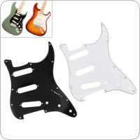 3Ply SSS PVC Electric Guitar Pickguard for FD ST Guitar